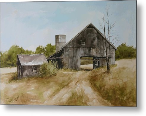 Landscapes Metal Print featuring the painting Cranbourne Grange Road by Don Cull