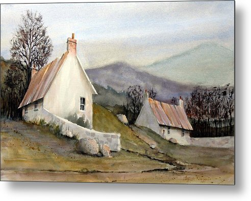 England Metal Print featuring the painting Devonshire Cottage I by Charles Rowland