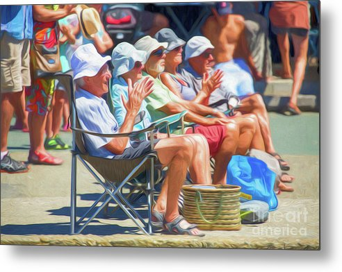 People Metal Print featuring the photograph Folk clapping busker by Sheila Smart Fine Art Photography