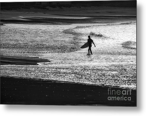 Surfer Metal Print featuring the photograph Last wave by Sheila Smart Fine Art Photography