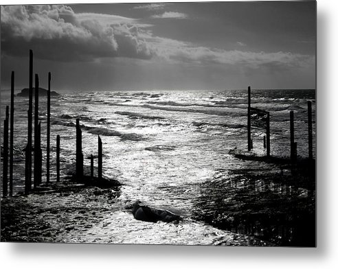 Pacific Metal Print featuring the photograph Pacific Silver by Melvin Kearney