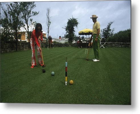 People Metal Print featuring the photograph Croquet by Slim Aarons