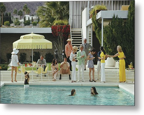 People Metal Print featuring the photograph Kaufmann Desert House by Slim Aarons
