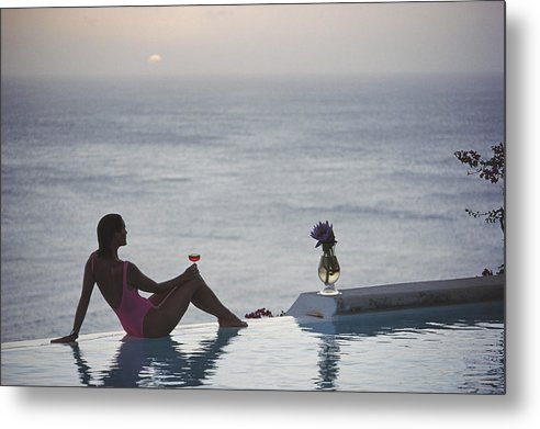 Tranquility Metal Print featuring the photograph Mustique Tranquility by Slim Aarons