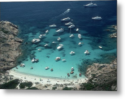 Bay Of Water Metal Print featuring the photograph Porto Rotondo by Slim Aarons