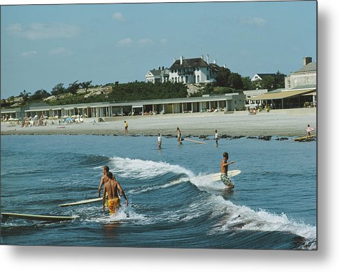 Lifestyles Metal Print featuring the photograph Rhode Island Surfers by Slim Aarons