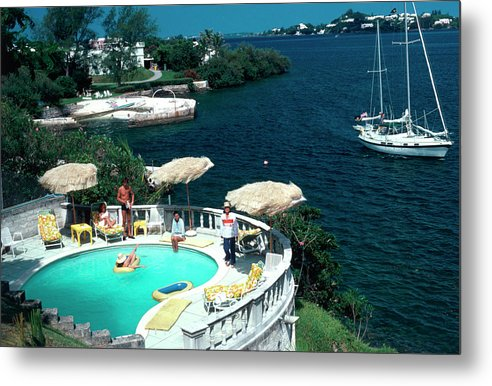 People Metal Print featuring the photograph Bermuda Idyll by Slim Aarons
