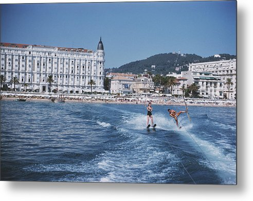 People Metal Print featuring the photograph Cannes Watersports by Slim Aarons