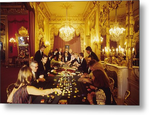Baden-baden Metal Print featuring the photograph Casino Life by Slim Aarons