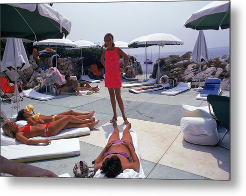 People Metal Print featuring the photograph Eden Roc Beach Club by Slim Aarons