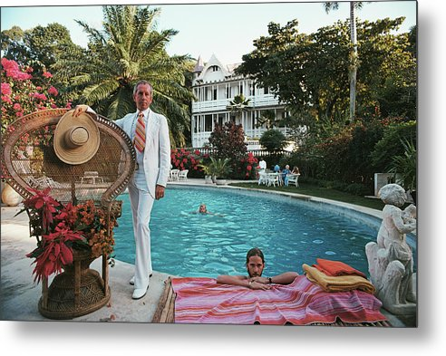 Crowd Metal Print featuring the photograph Lawrence Peabody II by Slim Aarons