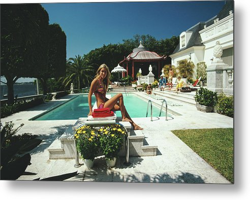 People Metal Print featuring the photograph Lillian Crawford by Slim Aarons