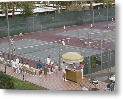 Tennis Metal Print featuring the photograph Palm Springs Tennis Club by Slim Aarons
