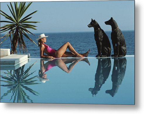 1980-1989 Metal Print featuring the photograph Pantz Pool by Slim Aarons