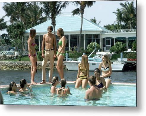 Young Men Metal Print featuring the photograph Phil Richards Pool by Slim Aarons
