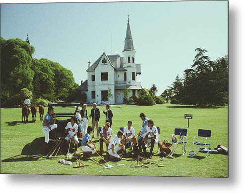 Horse Metal Print featuring the photograph Polo Gear by Slim Aarons
