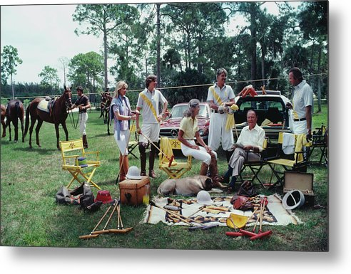 Horse Metal Print featuring the photograph Polo Party by Slim Aarons