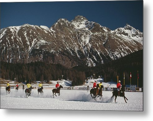 Horse Metal Print featuring the photograph Polo World Cup by Slim Aarons