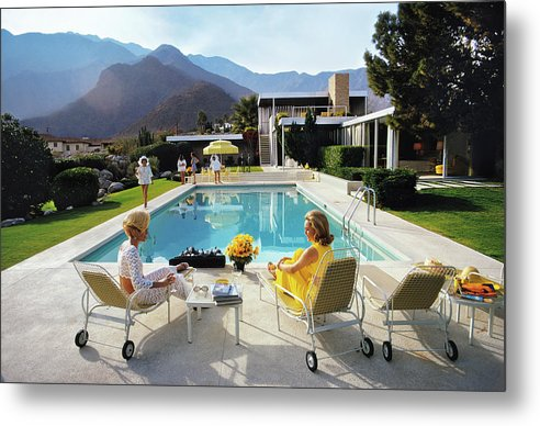 People Metal Print featuring the photograph Poolside Glamour by Slim Aarons