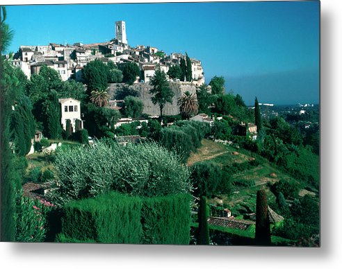 1980-1989 Metal Print featuring the photograph St. Paul De Vence by Slim Aarons