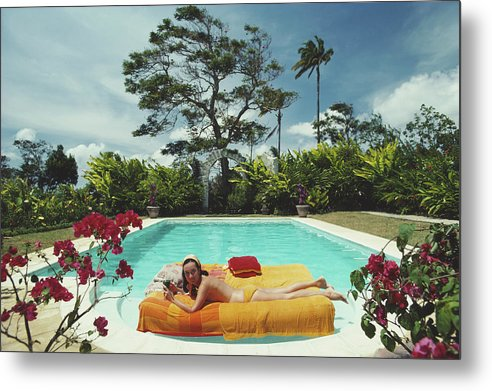 Artist Metal Print featuring the photograph Sunbathing In Barbados by Slim Aarons