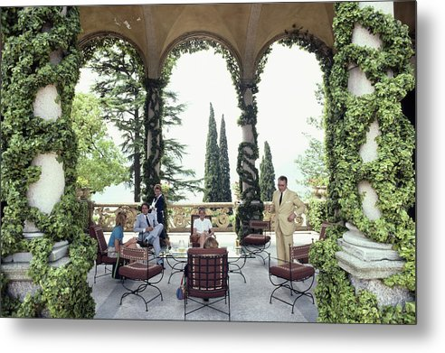 1980-1989 Metal Print featuring the photograph Villa Del Balbianello by Slim Aarons