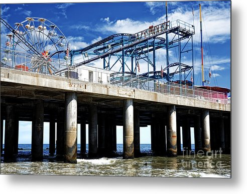 Crazy Mouse Metal Print featuring the photograph Crazy Mouse on the Steel Pier in Atlantic City by John Rizzuto