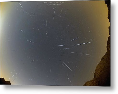 Metal Print featuring the photograph Geminids Meteor Shower 2020 by Prabhu Astrophotography