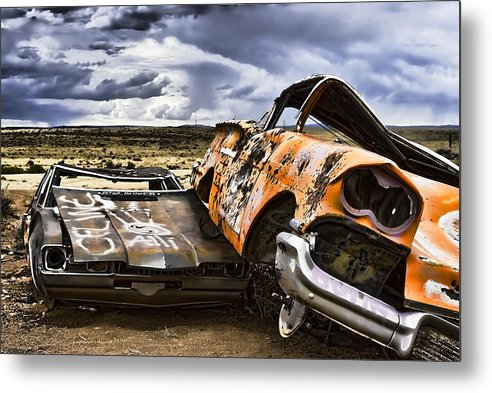 Rt 66 Metal Print featuring the photograph What'z Uup by Lou Novick