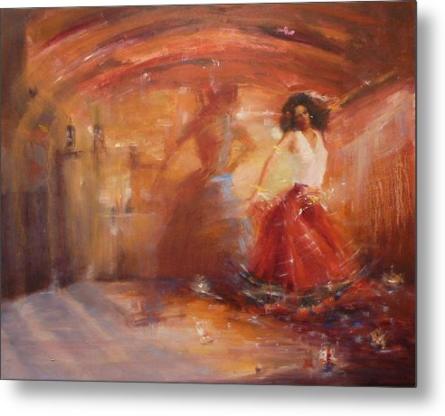 Dance Metal Print featuring the painting SOLD Bohemian by Irena Jablonski