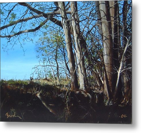 Landscape Metal Print featuring the painting Step Into Morning by William Brody