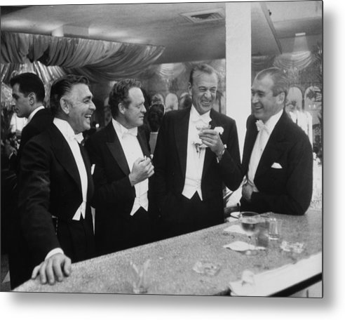 Jimmy Stewart Metal Print featuring the photograph Kings Of Hollywood by Slim Aarons