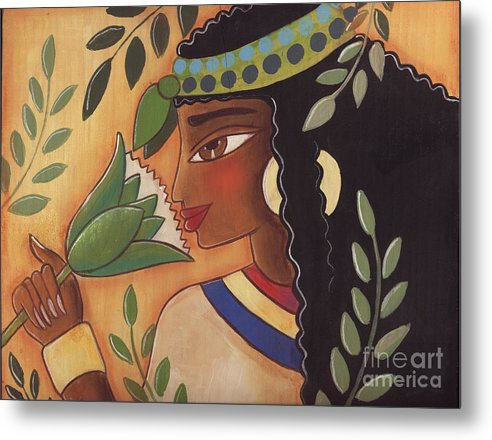 Ancient Egyptian Metal Print featuring the painting Ancient Egyptian Belle by Elaine Jackson
