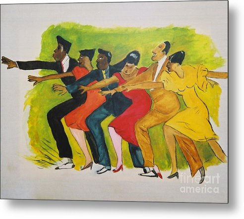 Dances From The 30's Metal Print featuring the mixed media Dance Series1 0f 8-Shim Sham Shimmy by JackieO Kelley