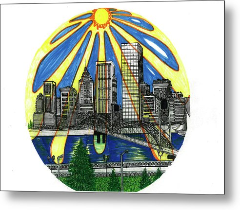 Metal Print featuring the drawing In the Midst of Sunshine by Harry Richards