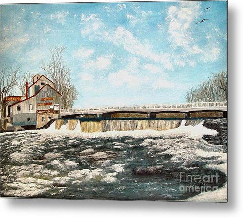 Mills Paintings Metal Print featuring the painting Chisholms Mill by Peggy Holcroft