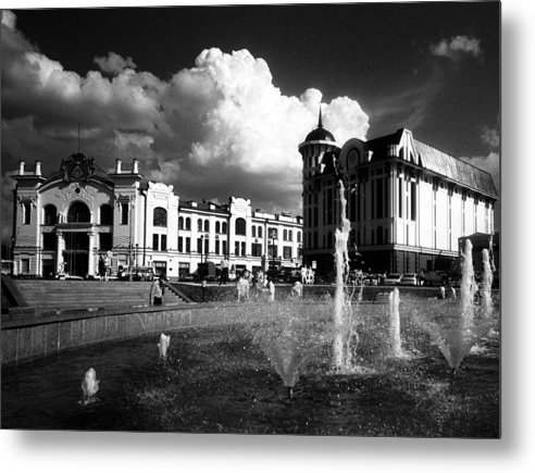 Cityscape Metal Print featuring the photograph Downtown Tomsk by Susan Chandler