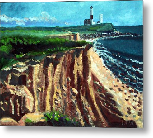 Montauk Metal Print featuring the painting Montauk Camp Hero 04A by Ralph Papa