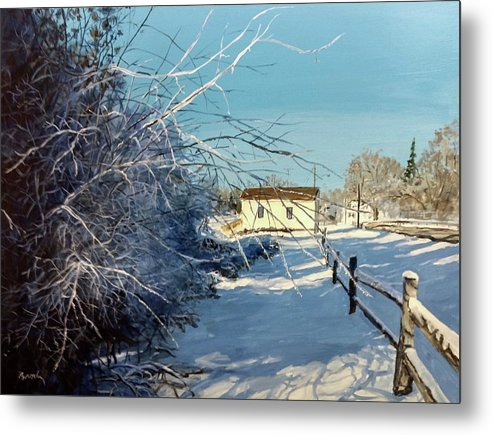 Winter Metal Print featuring the painting Promise Of Tomorrow by William Brody