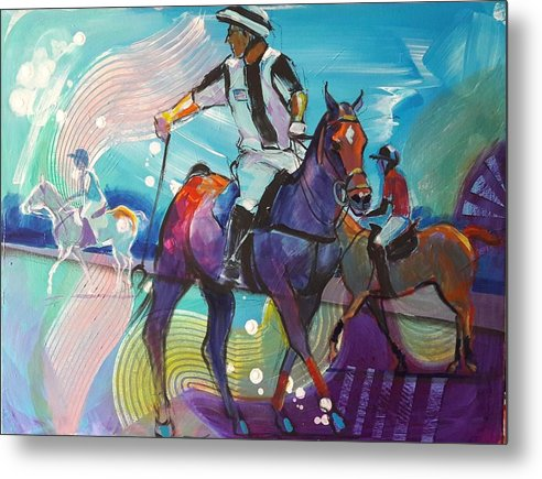 Polo Metal Print featuring the painting The Ref' by Kaytee Esser