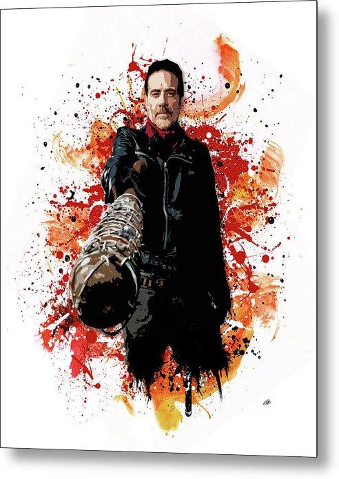 Walking Dead Metal Print featuring the digital art Negan by Laurence Adamson