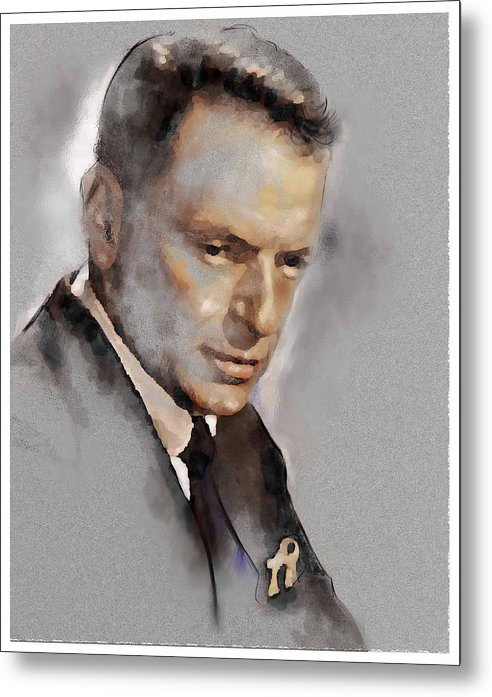 Franky Metal Print featuring the painting Sinatra by James Robinson