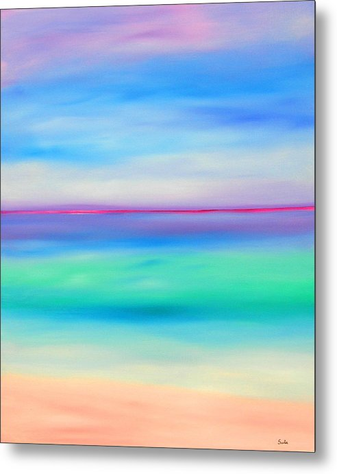 Caribbean Metal Print featuring the painting Sea Jewels by Sula Chance