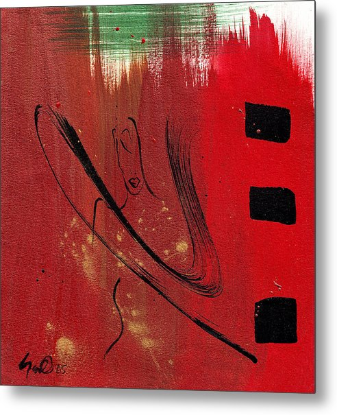 Abstract Metal Print featuring the mixed media Inspiration by Simone Fennell
