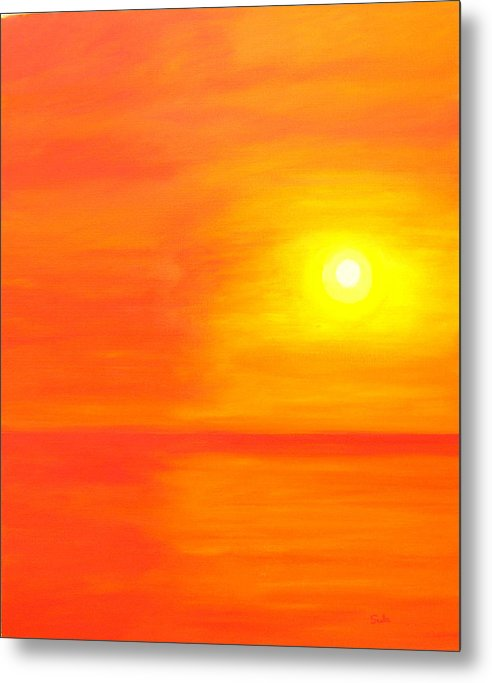 Caribbean Metal Print featuring the painting Sun Glow II by Sula Chance