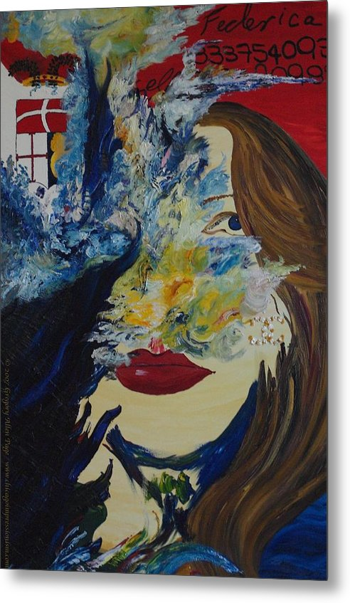 Como Metal Print featuring the painting Fede The Como Girl by Gregory Allen Page