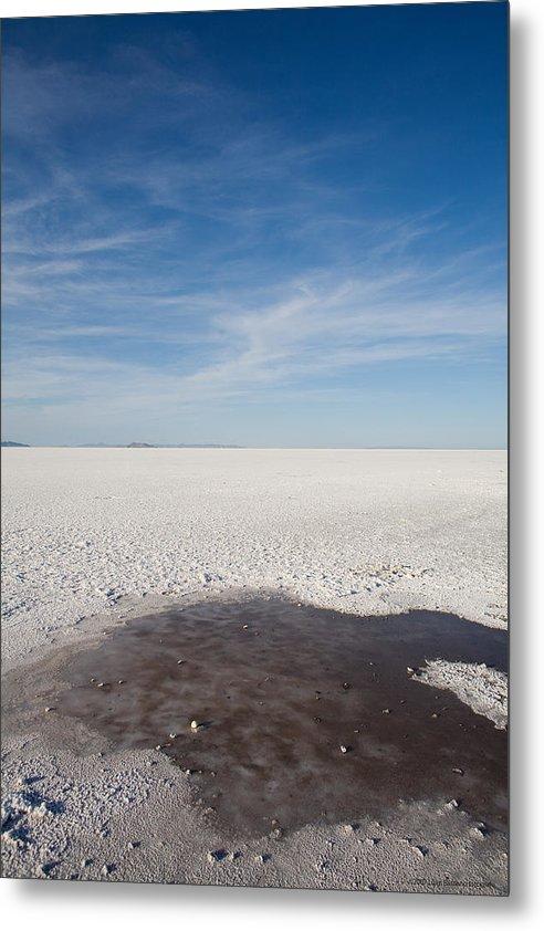 U.s.a. Metal Print featuring the photograph Salt Flats by Luigi Barbano BARBANO LLC