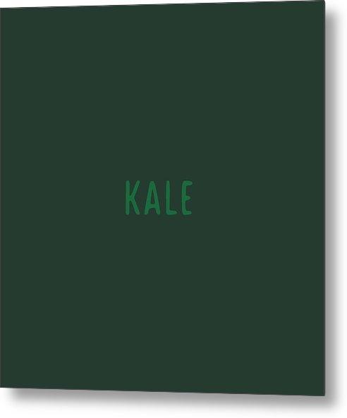 Text Metal Print featuring the digital art Kale by Cortney Herron