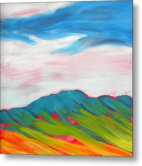 Metal Print featuring the painting Canyon Dreams 10 by Pam Van Londen
