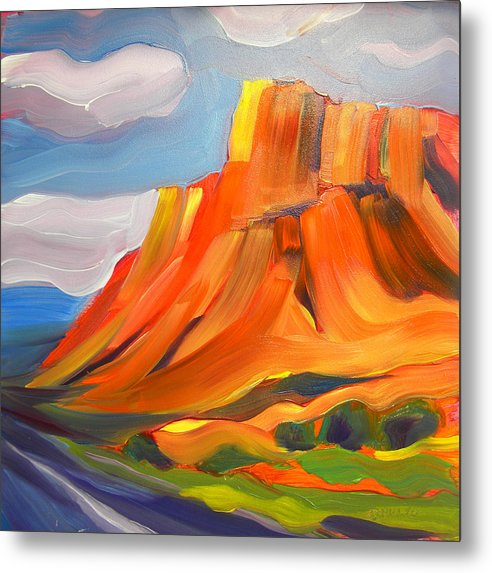 Southwest Metal Print featuring the painting Canyon Dreams 12 by Pam Van Londen